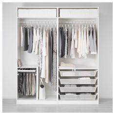 IKEA - PAX Wardrobe white, Vikanes white