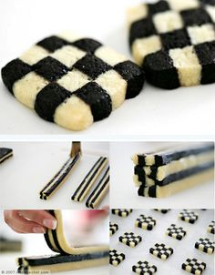 http://thecakebar.tumblr.com/post/19958003156/checkerboard-cookies-tutorial-recipe Checkerboard cookies tutorial