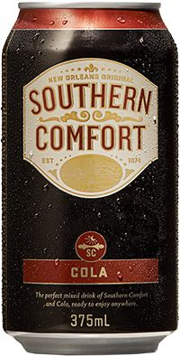 Southern Comfort Bourbon Cola Can Cheers Southern Comfort