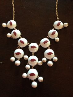 Arkansas Razorback Bubble Necklace