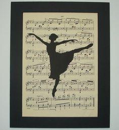 Ballerina Print vintage sheet music print sheet by 2PurpleCats