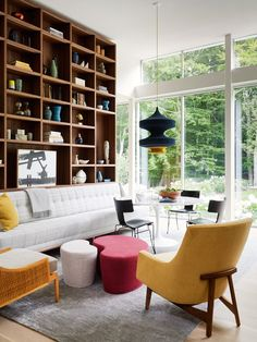 A Modern East Hampton Home Gets a Dramatic Renovation - Design Milk Decor, House, Interior Decorating, Interior, Home, Sleek Armchair, House Interior, Interior Design, Furniture Choice