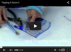 How To Cut Stained Glass By Tapping