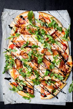 Bacon and Arugula Pizza