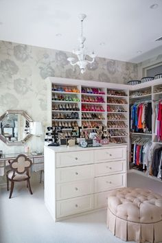 Closet room, My dream! With all my clothes, shoes, accessories, jewelry and a vanity..lovely