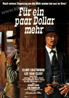 Für ein paar Dollar mehr - Deutsches A1 Filmplakat (59x84 cm) von 1969 - kinoart.net Lee Van Cleef, Clint Eastwood, Poster On, Poster Prints, Mario, Sergio Leone, Information Poster, Amazon Buy, Original Movie Posters