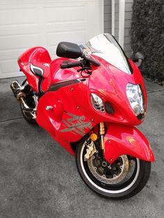 Red Custom Sport Bikes, Suzuki Hayabusa, Sportbikes, Street Bikes, Fuel Economy, Dark Knight, Cool Bikes, Knights