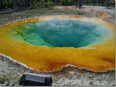 "the ""Morning Glory Pool"", a hot spring in the Upper Geyser Basin of Yellowstone National Park in the United States. The odd hot spring was named by Mrs. E. N. McGowan, wife of Assistant Park Superintendent, Charles McGowan in 1883. She called it Convolutus, the latin name for the morning glory flower of which the springs resemble."