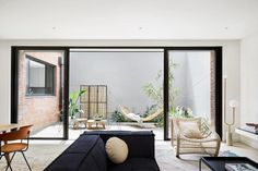 Two contemporary, light filled, three storey townhouses in Windsor Melbourne, designed by NORTHBOURNE Architecture + Design. Architecture Design, Zen, Windsor House, Interior Styling, Interior Design, Courtyard House, Living Room Grey, Living Rooms, Terrace Garden