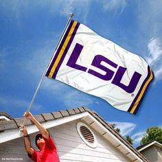 LSU Tigers Jersey Stripes Flag
