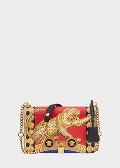 Versace Medium Pillow Talk Print Icon Shoulder Bag for Women Versace Purses, Versace Bag, Versace Handbags, Best Handbags, Fashion Handbags, Purses And Handbags, Fashion Bags, Leather Handbags, Gianni Versace