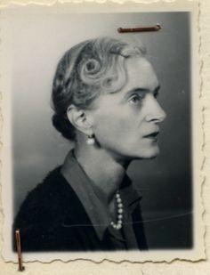 Princess Irina Yusupova's 1955 Refugee certificate photo.