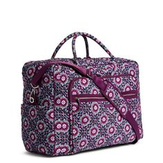 Image of Iconic Grand Weekender Travel Bag in Lilac Medallion