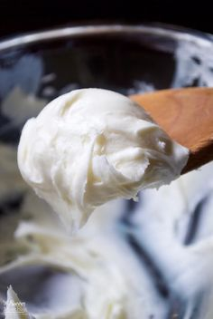 "2-Ingredient ""Magic"" Coconut Oil Frosting - ready in minutes and makes two different types of icing: luscious glaze or fluffy buttercream-like frosting."