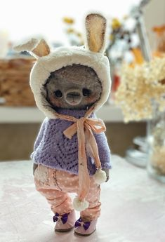 Teddy Toys, Bunny Toys, Cute Stuffed Animals, Stuffed Bear, Bear Wallpaper, Bear Doll, Sewing Toys, Pet Toys, Art Dolls