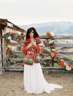 Photography : Rebecca Hollis Photography Read More on SMP: http://www.stylemepretty.com/montana-weddings/2015/01/16/colorful-wild-west-wedding-inspiration/