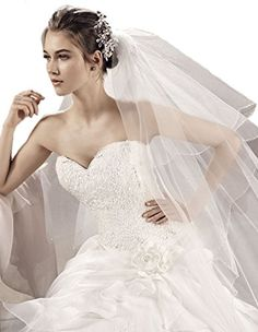 Passat Champagne 2T 10M wedding headpiece with veil bling bling cathedral Weding veil 282 *** Be sure to check out this awesome product.-It is an affiliate link to Amazon. #BridalVeils