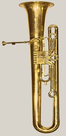 Baritone trombacello in B-flat by Graves & Co., Winchester, ca. Original case and mouthpiece. One of only five such instruments known to survive. Brass Musical Instruments, Brass Instrument, Trombone, Saxophone, Music Love, Art Music, Tommy Musical, Ancient Music, Trumpet Music