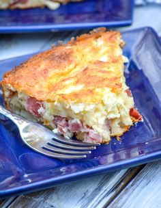 Grandma's ham & Swiss pie was made for the supper table. Featuring a savory ham, onion, & Swiss cheese filling- it's a forkful of Heaven in every bite. Great thing it's easy too, you might need to make more than one! Ham Slices Recipes, Ham Recipes, Brunch Recipes, Cooking Recipes, Hamburger Recipes, Chicken Recipes, Easy Casserole Dishes, Ham Casserole