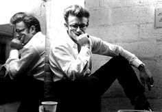Rebel Without a Cause. // James Dean in his dressing room for his appearance...