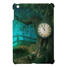 Pretty whimsical art - The Old Clock and The Tree - iPad Mini Case / Cover