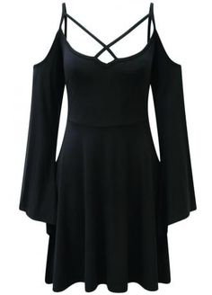 nice Séance Angel Sleeve Skater Dress by http://www.polyvorebydana.us/gothic-fashion/seance-angel-sleeve-skater-dress/