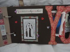 "Front of ""Y"" page. Love You album by Connie Hitchcock from a kit by The Crafting Cottage - Painted Post NY"