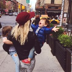 """I sure love being their mama. Even if they both insist I carry them for blocks and blocks at a time. ;)"""