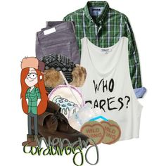 """""""Wendy Corduroy From Gravity Falls"""" by magykgirlz on Polyvore"""