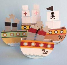 Wenn Sie ein Spielzeug für Ihr Kind brauchen, dann würden wir empfehlen, Schiffe zu machen. Diese Schiffe aus Käseverpackung - super kreative Idee.