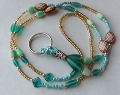 Beaded lanyard ID lanyard Beach Colors ID by TheMermaidsSong, $21.00