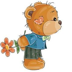 Buy Loving Brown Teddy Bear by vectorpocket on GraphicRiver. Vector illustration of a loving brown teddy bear boy hides behind a flower and is going to kiss someone. Tatty Teddy, Teddy Bear Hug, Brown Teddy Bear, Teddy Bear Toys, Teddy Boys, Bear Clipart, Bear Vector, Adobe Illustrator, Art And Illustration