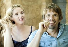 """In """"Before Midnight,"""" Julie Delpy (left) and Ethan Hawke reprise their roles as Céline and Jesse, who audiences first met in """"Before Sunrise. Julie Delpy, Before Sunrise Trilogy, Before Trilogy, Latest Movies, New Movies, Movies To Watch, Indie Movies, Comedy Movies, Before Midnight"""