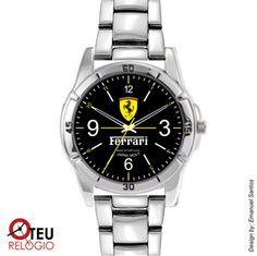 Mostrar detalhes para Relógio de pulso OTR 0005 LOGO FERRARI PRETO