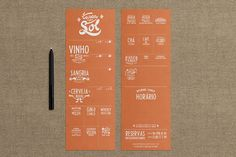 For Tasca do Sol designer Guilherme de Bernardo S. created drink menus that both fit the restaurant's daily needs and infused references to ...