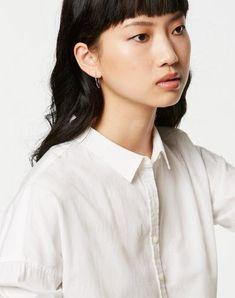 Kaja Bluse Weiß aus Biobaumwolle #veganemode #fairfashion #veganfashion Kaja, Organic, Shopping, Vegan Fashion, Blouse, Summer, Cotton, Woman, Nice Asses