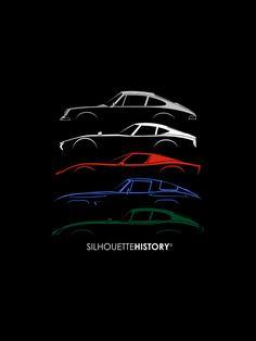 Super Macchina Silhouettehistory Silhouettes Of The Ferrari