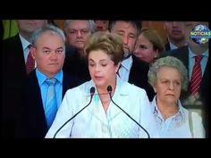 Trecho do Discurso da presidente afastada Dilma em Brasília