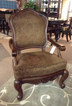 Accent Chairs  - Brown Paisley Print Chair - $258.95