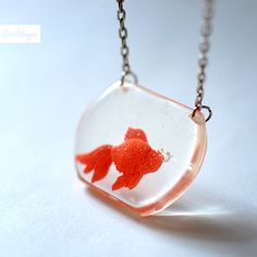 """I would take this little fish friend with me everywhere! I love the bubbles perched just on the end of his """"nose""""."""