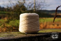 We've been making use of another blissful sunny morning at the mill by taking photos of our new Lambswool Chunky yarns. Doesn't our yarn look lovely with the morning sun shining onto it? This cream shade is one of many colours we have on offer in our chunky yarns. Make sure to follow the link below to see what chunky yarns we have available.