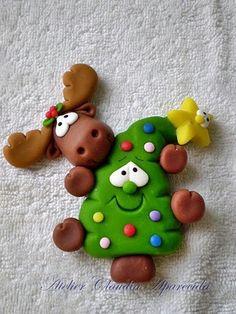 Un adorno super divertido para una tarta navideña