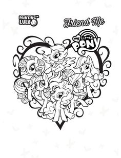 My Little Pony Ponies Coloring Pages Quote May Liro Colouring Books Bangs Printable