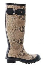 Hunter Womens Welly Natural 3 Carnaby  Snake Skin - Various Size Options