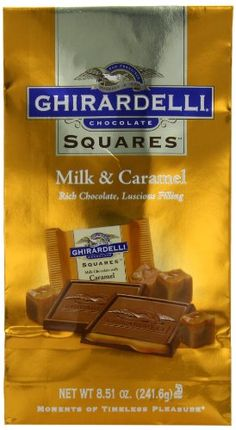 Ghirardelli Chocolate Squares, Milk Chocolate with Caramel Filling,