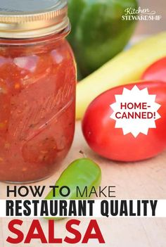 Easy Restaurant Style Canned Salsa Recipe Get Mexican restaurant quality salsa in your own home with this fool-proof recipe and easy canning guide. Salsa Canning Recipes, Canning Salsa, Fresh Tomato Recipes, Fresh Tomato Salsa, Homemade Canned Salsa, Easy Canned Salsa Recipe, Resturant Style Salsa, Canning Vegetables, Freezing Vegetables