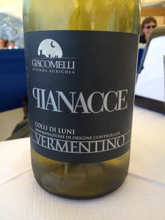 2013 Giacomelli Pianacce Vermentino DOC Colli di Luni, 13% Straw yellow with aromas of sea salt, minerals, brine, citrus fruits. Dry on the palate, good balance, well-integrated alcohol. Drank it with mixed seafood platter and pesto pasta. BP: Buy (16 euro restaurant)