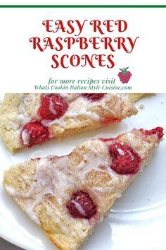 Easy Red Raspberry Scones