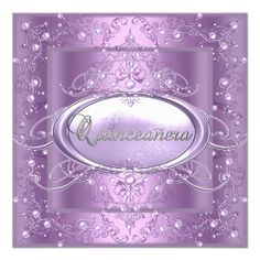 Quinceanera 15th Birthday Party Lilac Pink Pearl Announcements online after you search a lot for where to buyDiscount Deals          Quinceanera 15th Birthday Party Lilac Pink Pearl Announcements please follow the link to see fully reviews...