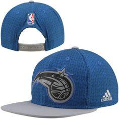 adidas Orlando Magic Christmas Day On-Court Impact Camo Snapback Hat - Royal Blue/Silver - $13.99